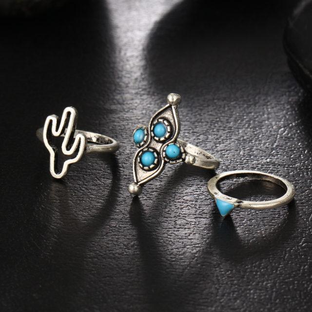 Women's Boho Style Rings Set