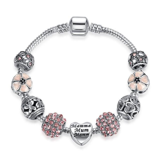 Women's Crystal Lucky Clover Charm Bracelet