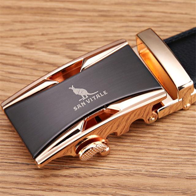 Men's Luxury Box Buckle Leather Belt