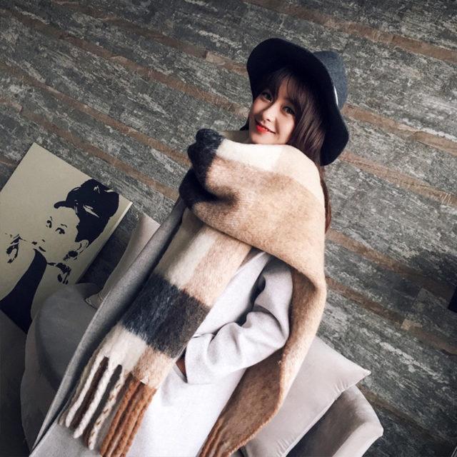 Women's Winter Warm Large Long Scarf