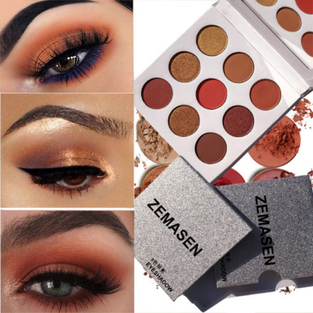 Natural Shimmer 9 Colors Eyeshadow Palette