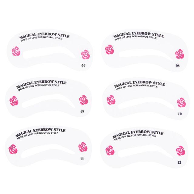 Transparent Durable Reusable Eyebrow Stencils Set