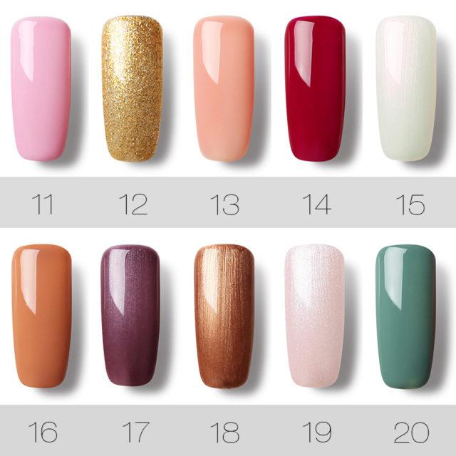 Gel Nail Polish Solid Color Series