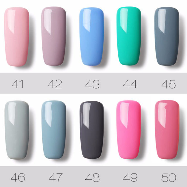 UV LED Gel Nail Polish Pure Color 31-58