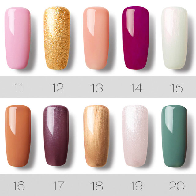 UV LED Gel Nail Polish Pure Color 1-30