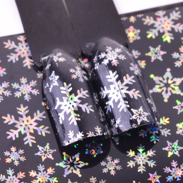 Holographic Snowflake Nail Stickers
