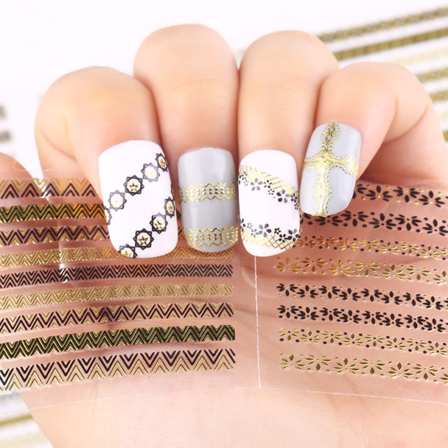3D Nail Stickers Set