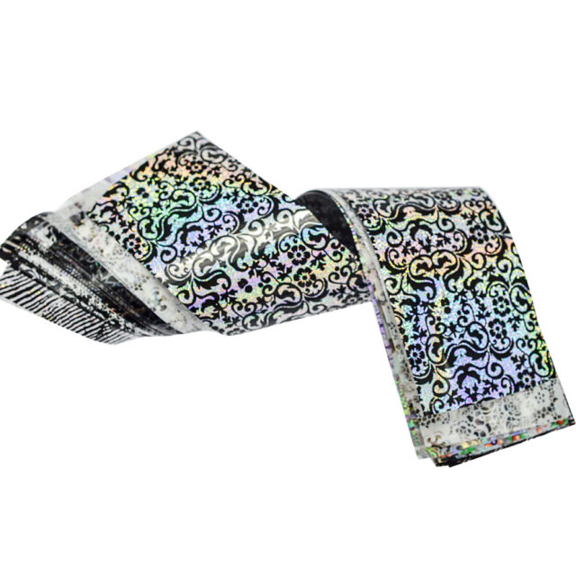 Set Holographic Starry Laser Nail Foil Stickers