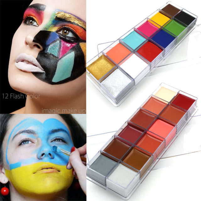 Face and Body Paints 12 Colors Set