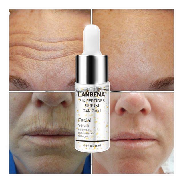 24K Gold Anti-Aging Wrinkle Lifting Facial Serum