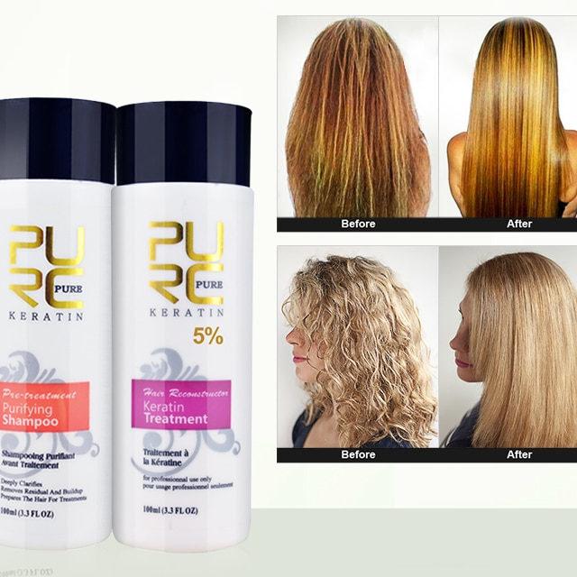 Brazilian Keratin Treatment and Purifying Shampoo 2 pcs Set