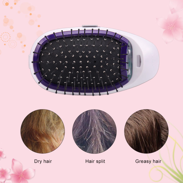 Electric Mini Massage Hairbrush