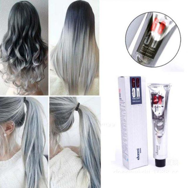 Light Grey Permanent Hair Color Cream