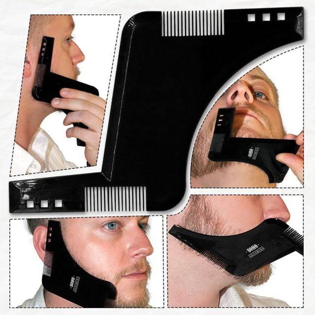 Beard Shaping Tool with Comb