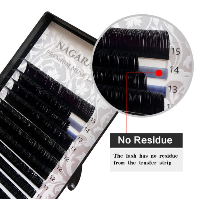 16 Rows Natural Mink Makeup Individual Eyelashes