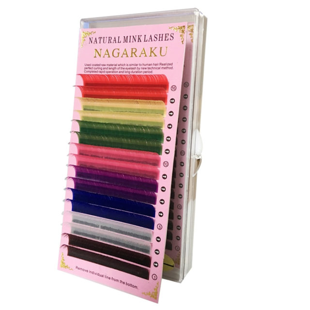 Colorful 16 Rows Faux Mink Eyelash
