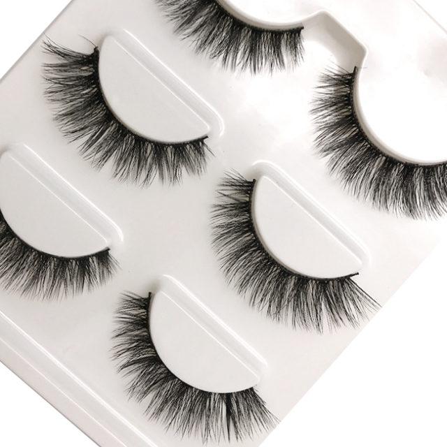 3 Pairs of 3D Mink False Eyelashes