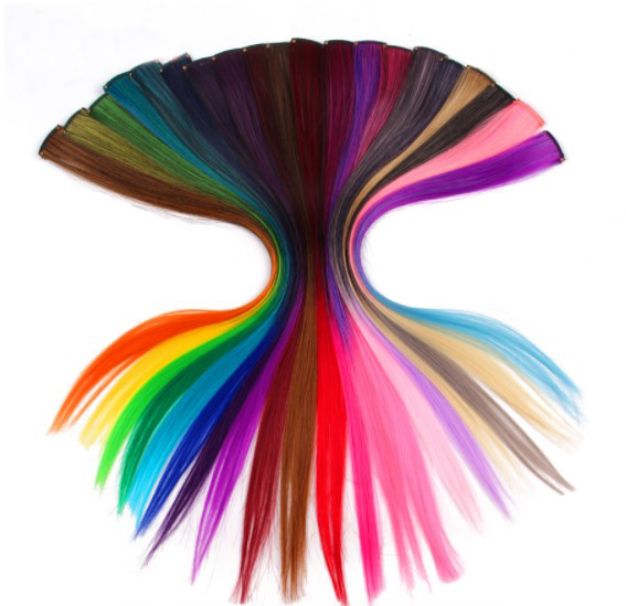 Vivid Color Single Clip Synthetic Hair Extensions