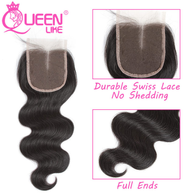 Wavy Brazilian Hair Weaves with Closure