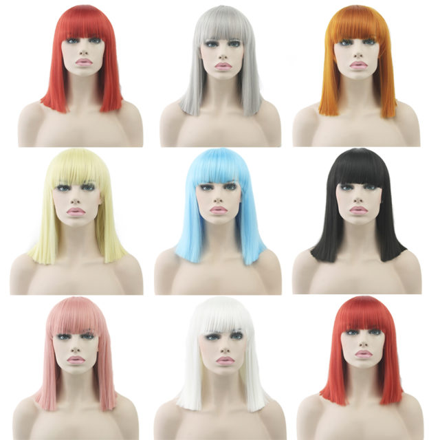 Short Straight Synthetic Hair Wig