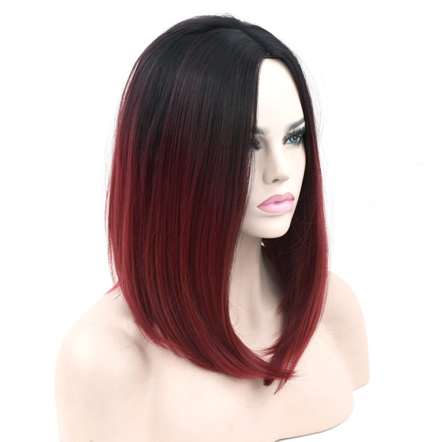 Ombre Color Straight Bob Synthetic Wig