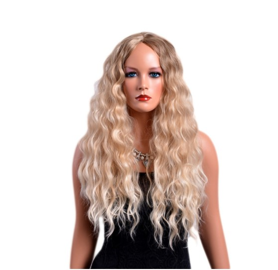 Long Curly Blond Synthetic Hair Wig