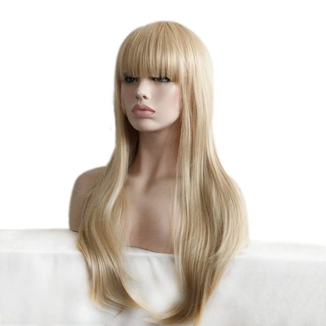 Women's Long Straight Blonde Wig