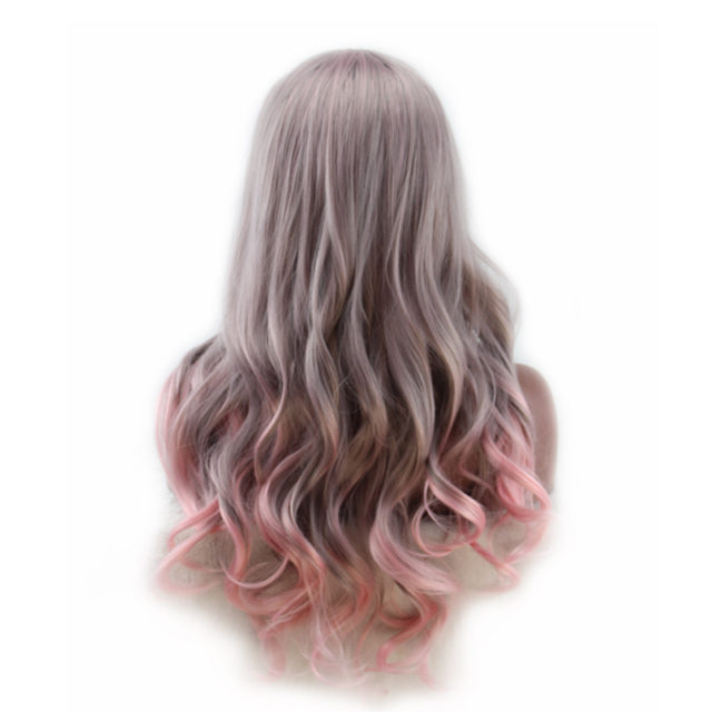 Long Wavy Ombre Pastel Color Wig