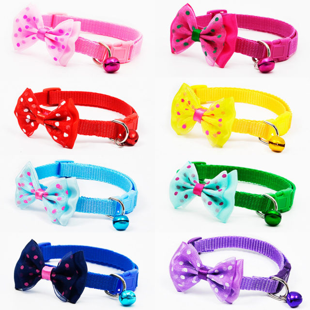 Adjustable Dog Collar with Bow
