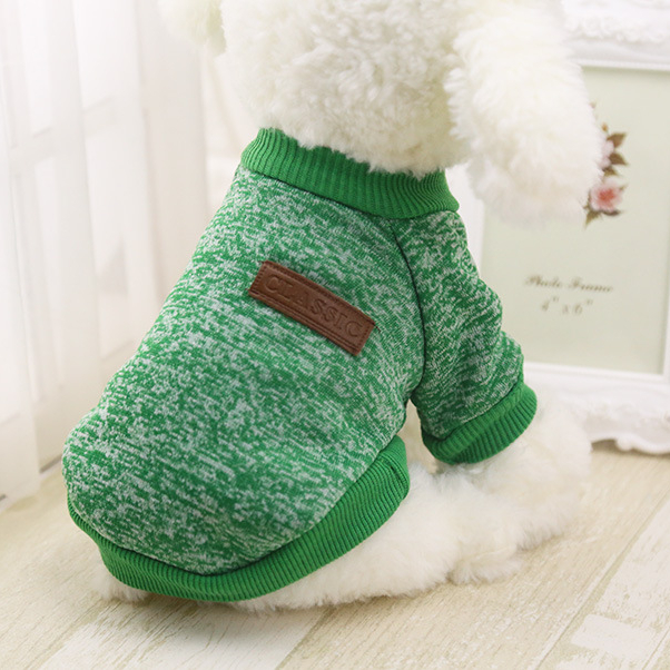 Warm Cotton Melange Color Dog's Sweater