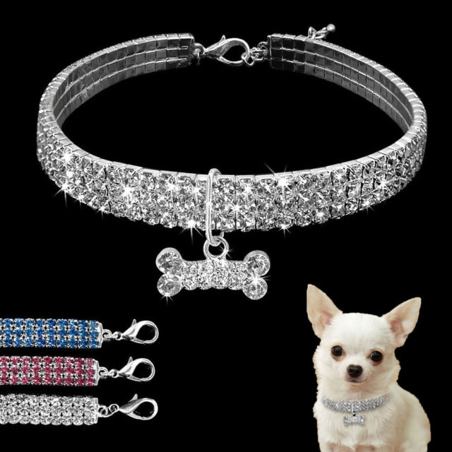 Shiny Crystal Collar for Small Dogs