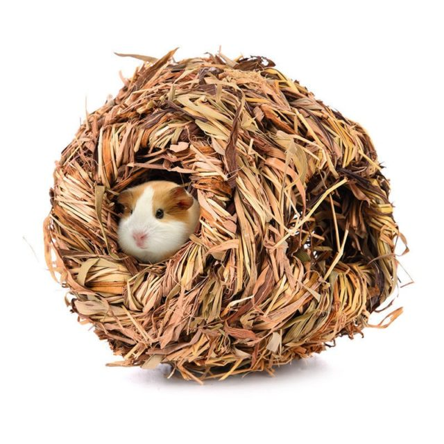 Natural Straw Hamster House