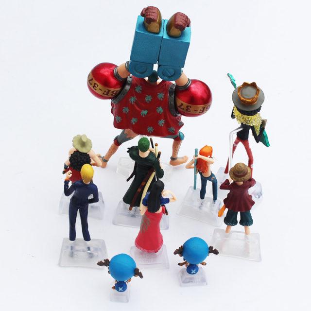 10 Pcs One Piece Action Figures Set