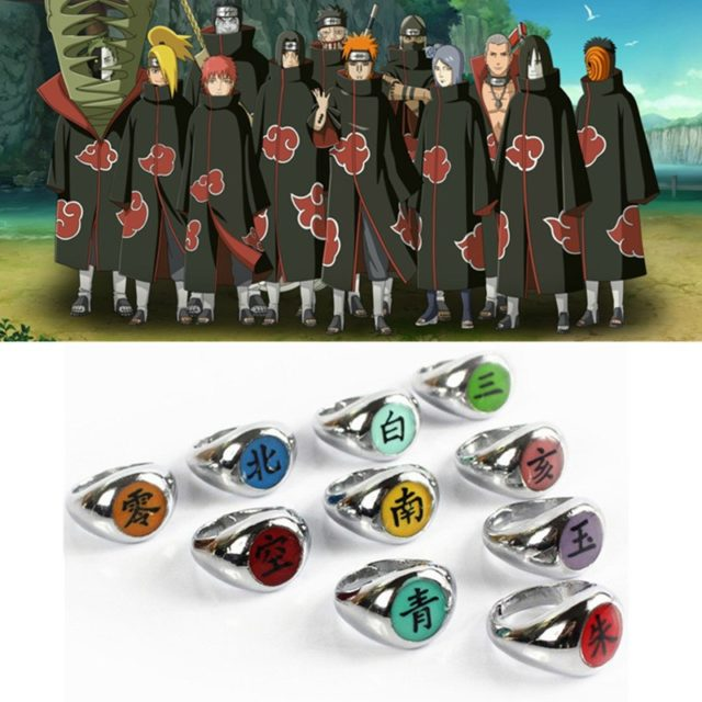 Anime Naruto Akatsuki Cosplay Rings