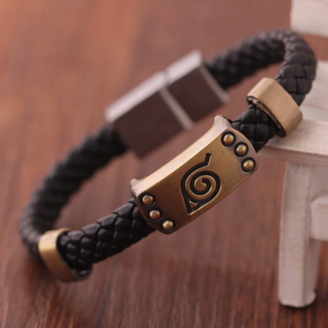 Naruto Anime Braided Leather Bracelet
