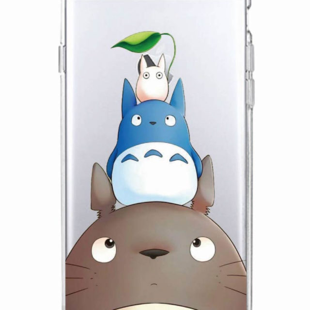 Cute Totoro and Spirited Away Soft Clear Phone Case