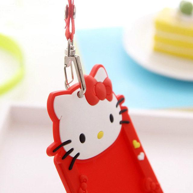 Cartoon Chi Cat Silicone ID Holder