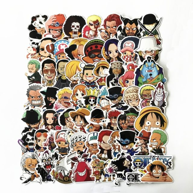 One Piece Printed Stickers 61 pcs Set