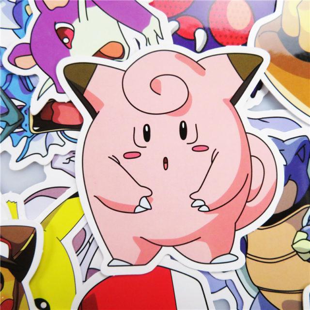 Funny Anime Pikachu Stickers Set