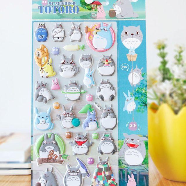 Totoro 3D Stickers Diary PVC Stickers