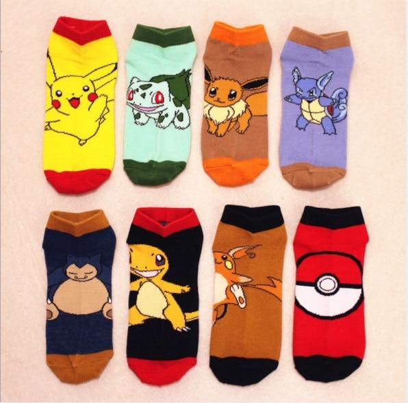 Anime Pokemon Printed Colorful Socks