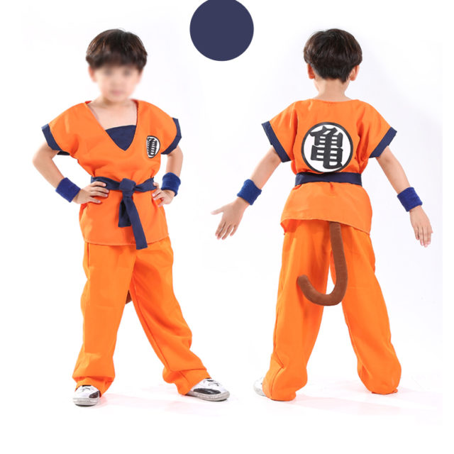 Kid's Dragon Ball Cosplay Costume
