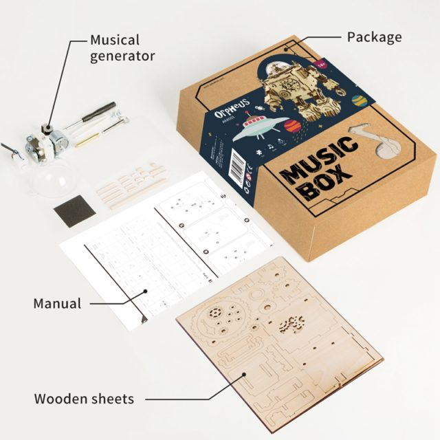 Music-Playing Robot DIY Scale Model