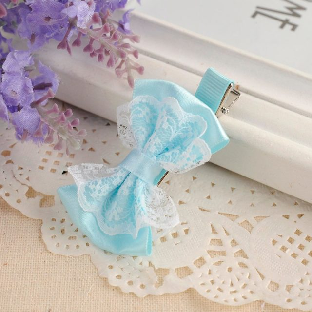 Colorful Lace Baby Girls Bow Hairpin