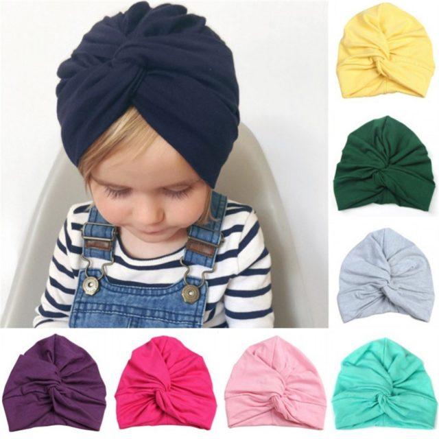 Irregular Cotton Baby Girl Hat