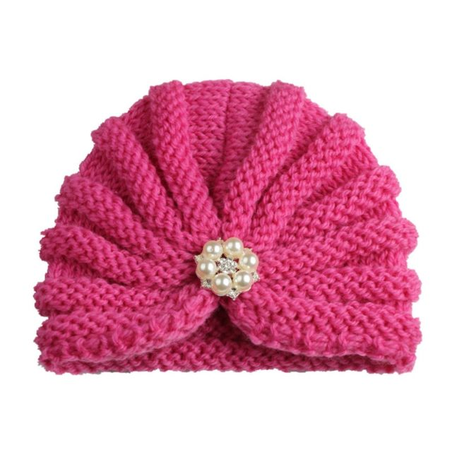 Winter Baby Girl's Hats with Pearl