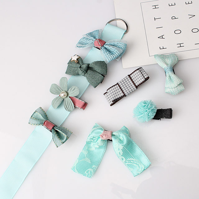 Fashion Lovely Bow Shaped Girl's Hairpins Set
