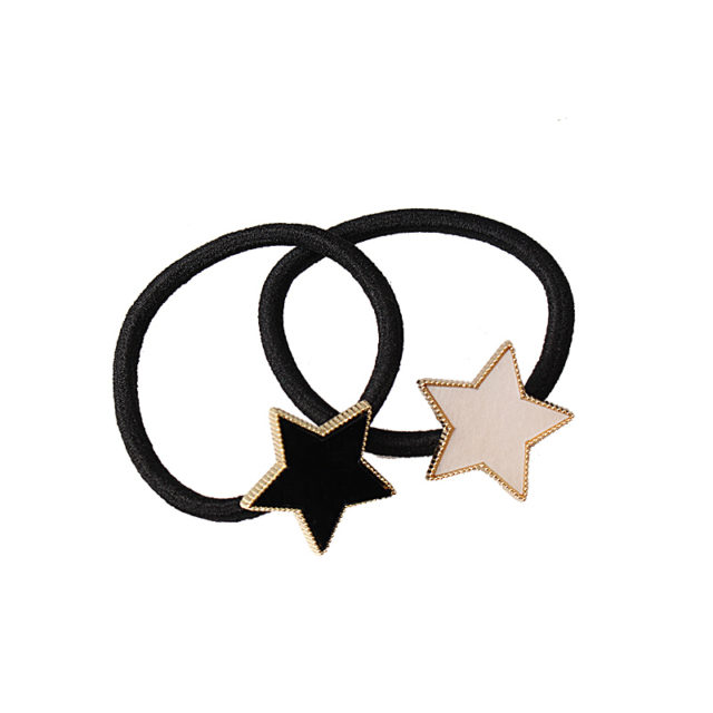 Girl's Metal Star Hair Rope Accessories