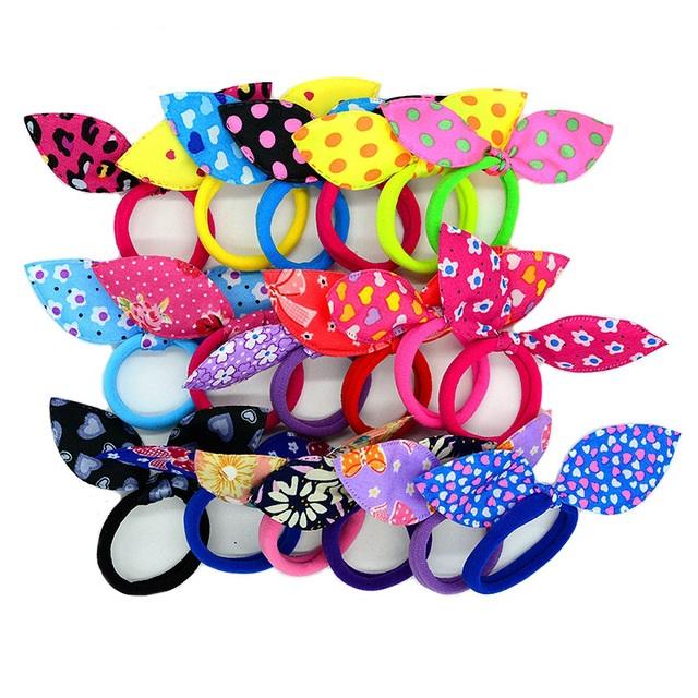 Fashion Elastic Bright Girl's Hair Bands Set
