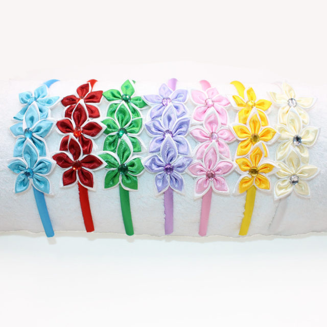 Fashion Floral Silky Girl's Headband